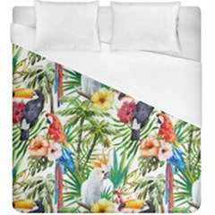 Tropical Parrots Pattern Duvet Cover (king Size) by goljakoff