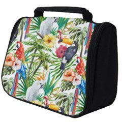 Tropical Parrots Pattern Full Print Travel Pouch (big)