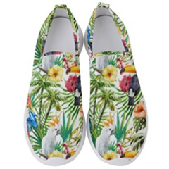 Tropical Parrots Pattern Men s Slip On Sneakers by goljakoff