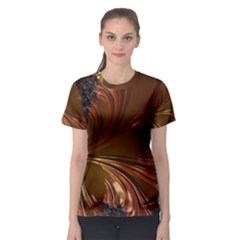 Fractal Copper Copper Color Leaf Women s Sport Mesh Tee