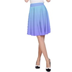 Turquoise Purple Dream A Line Skirt