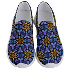 Blue Flowers Wallpaper Backgrounds Men s Lightweight Slip Ons