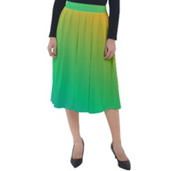 Sunburnt Splash Classic Velour Midi Skirt