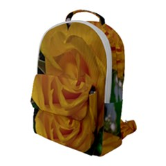Yellow Rose Flap Pocket Backpack (large) by Riverwoman