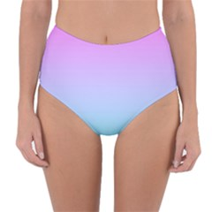 Pink Aqua Dream Reversible High Waist Bikini Bottoms