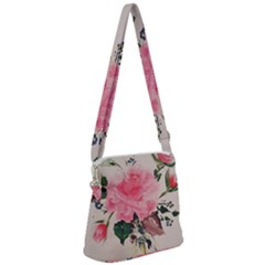 Margaret s Rose Zipper Messenger Bag