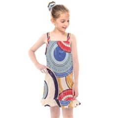 Traditinal Japanese Art Kids  Overall Dress by tarastyle