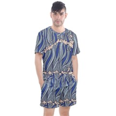 Traditinal Japanese Art Men s Mesh Tee And Shorts Set by tarastyle
