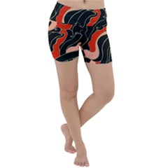 Traditinal Japanese Art Lightweight Velour Yoga Shorts