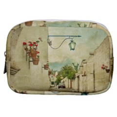 Vintage Grunge Print Arequipa Street, Peru Make Up Pouch (small) by dflcprintsclothing