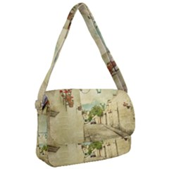 Vintage Grunge Print Arequipa Street, Peru Courier Bag by dflcprintsclothing