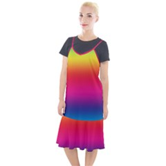 Neon Bright Rainbow Camis Fishtail Dress by retrotoomoderndesigns