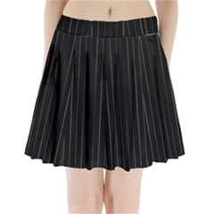Dark Linear Abstract Print Pleated Mini Skirt by dflcprintsclothing