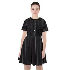 Dark Linear Abstract Print Sailor Dress by dflcprintsclothing
