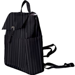 Dark Linear Abstract Print Buckle Everyday Backpack
