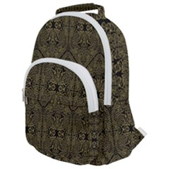 Exotic Gold Black Dream Rounded Multi Pocket Backpack