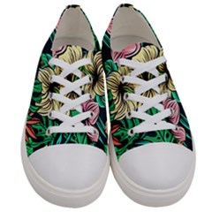 Hibiscus Dream Women s Low Top Canvas Sneakers