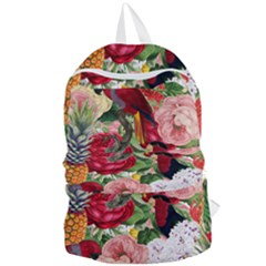 Tropical Bird Floral Foldable Lightweight Backpack