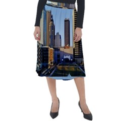 Columbus Skyline Classic Velour Midi Skirt