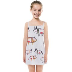Children Children Drawing Flock Kids  Summer Sun Dress