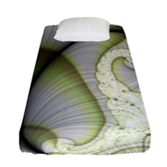 Graphic Fractal Eddy Curlicue Leaf Fitted Sheet (single Size)