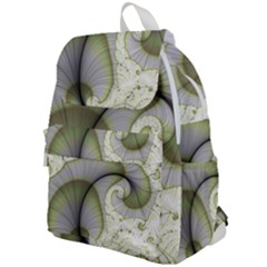 Graphic Fractal Eddy Curlicue Leaf Top Flap Backpack