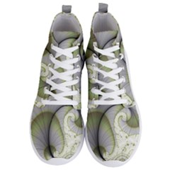 Graphic Fractal Eddy Curlicue Leaf Men s Lightweight High Top Sneakers by Pakrebo