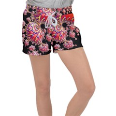 Fractals Colorful Pattern Women s Velour Lounge Shorts