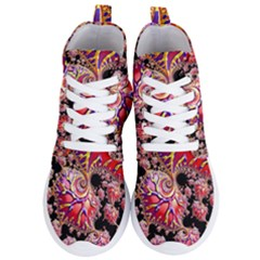 Fractals Colorful Pattern Women s Lightweight High Top Sneakers by Pakrebo