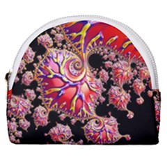 Fractals Colorful Pattern Horseshoe Style Canvas Pouch