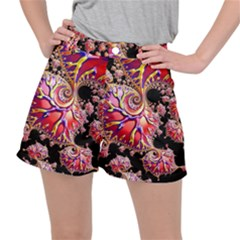 Fractals Colorful Pattern Stretch Ripstop Shorts