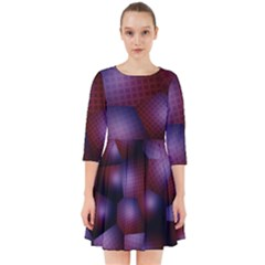 Fractal Rendering Background Smock Dress