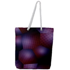 Fractal Rendering Background Full Print Rope Handle Tote (large)