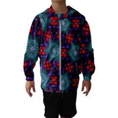 Ornament Colorful Background Color Hooded Windbreaker (kids)