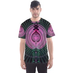 Fractal Traditional Fractal Hypnotic Men s Sports Mesh Tee