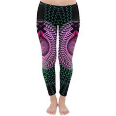 Fractal Traditional Fractal Hypnotic Classic Winter Leggings by Pakrebo