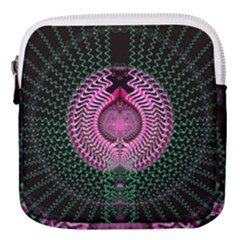 Fractal Traditional Fractal Hypnotic Mini Square Pouch