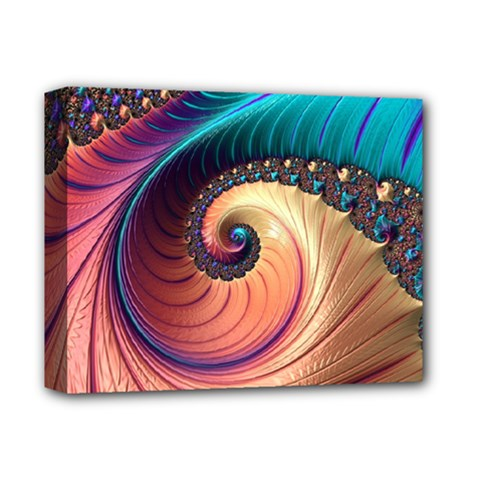 Fractal Multi Colored Fantasia Deluxe Canvas 14  X 11  (stretched) by Pakrebo