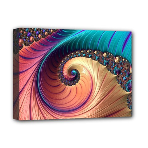 Fractal Multi Colored Fantasia Deluxe Canvas 16  X 12  (stretched)  by Pakrebo
