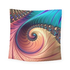 Fractal Multi Colored Fantasia Square Tapestry (small)