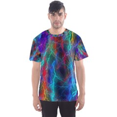 Wizzard Flashes Pattern Abstract Men s Sports Mesh Tee