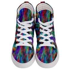 Wizzard Flashes Pattern Abstract Women s Hi Top Skate Sneakers