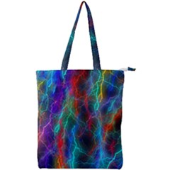 Wizzard Flashes Pattern Abstract Double Zip Up Tote Bag