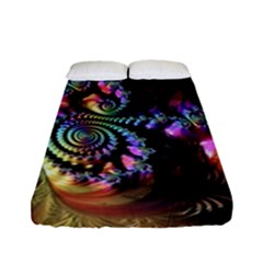 Fractal Colorful Background Fitted Sheet (full/ Double Size)