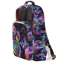 Fractal Colorful Background Double Compartment Backpack