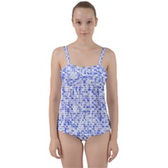 Blockchain Cryptography Twist Front Tankini Set