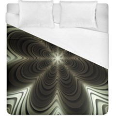 Fractal Silver Waves Texture Duvet Cover (king Size) by Pakrebo