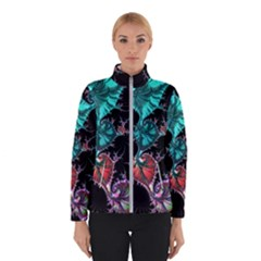 Fractal Colorful Abstract Aesthetic Winter Jacket