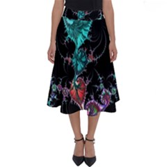Fractal Colorful Abstract Aesthetic Perfect Length Midi Skirt