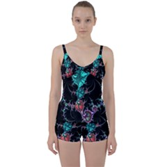 Fractal Colorful Abstract Aesthetic Tie Front Two Piece Tankini